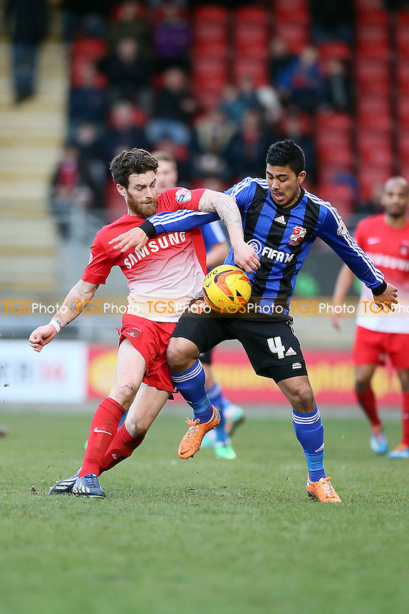 O's Romain Vincelot &amp; Massimo Luongo<br />  Leyton Orient  v Swindon Town - SkyBet League One Football at the Matchroom Stadium Leyton London  22/02/14 - MANDATORY CREDIT SIMON O'CONNOR -Self Billing applies where appropiate 01376 553468 contact@tgsphoto.co.uk - NO UNPAID USE