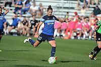 Kansas City, MO - Sunday August 28, 2016: Yael Averbuch during a regular season National Women's Soccer League (NWSL) match between FC Kansas City and the Boston Breakers at Swope Soccer Village.