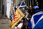 Saturday, April 14,  2007, New York, New York.. The 9th annual Tartan Day Parade was held today on 6th Avenue between 44th and 58th Streets.. Thousands turned out to play the drums, pipes and to view all those dressed for the occasion.. Emily Hand, of New Jersey, came out with her parents to view the parade.