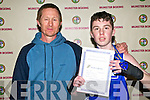 Munster Boys & Youths Boxing Championships: Cillian Spillane, 50kg Boy 3, Trojan Boxing Club, Listowel who won gold at the Munster Boys & Youths Championships hosted by the Cashen Vale Boxing Club at the Community Centre, Ballybunion over last weekend with his coach Graham Ball.
