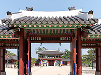 Hwaseong Haenggung Palast in  der Festung-Hwaseong von Suwon, Provinz Gyeonggi-do, Südkorea, Asien, Unesco-Weltkultueerbe<br /> Hwaseong Haenggung palace in  fortress Hwaseong, Suwon, Province Gyeonggi-do, South Korea Asia, UNESCO World-heritage