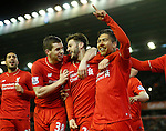 Roberto Firmino of Liverpool celebrates scoring their third goal - English Premier League - Liverpool vs Manchester City - Anfield Stadium - Liverpool - England - 3rd March 2016 - Picture Simon Bellis/Sportimage