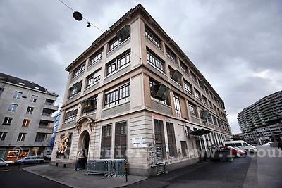 Genève, le 23.02.2010.L'Usine centre culturel autogéré..© Le Courrier / J.-P. Di Silvestro
