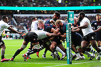 England forwards drive towards the Fiji try line. Old Mutual Wealth Series International match between England and Fiji on November 19, 2016 at Twickenham Stadium in London, England. Photo by: Patrick Khachfe / Onside Images