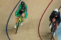 Picture by Alex Whitehead/SWpix.com - 25/03/2018 - Cycling - 2018 UCI Para-Cycling Track World Championships - Rio de Janeiro Municipal Velodrome, Barra da Tijuca, Brazil - Katie-George Dunlevy piloted by Eve McCrystal of Ireland defeat Hannah Pascoe piloted by Nina Wollaston of New Zealand in the Women's Tandem Sprint 1/4 finals.