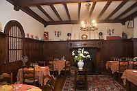 """Europe/France/Aquitaine/64/Pyrénées-Atlantiques/Mauléon-Licharre: Hotel-Restaurant """"Bidegain"""" une  salle à manger"""