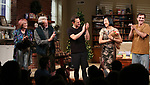 Kate Bornstein, Stephen Payne, Josh Charles, Young Jean Lee and Paul Schneider during the Broadway opening night curtain Call of 'Straight White Men' at Hayes Theater on July 23, 2018 in New York City.