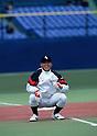 Kohsuke Fukudome (JPN), .1996 - Baseball : .Kohsuke Fukudome of Japan laughs during a training session. .(Photo by Hitoshi Mochizuki/AFLO) (449)