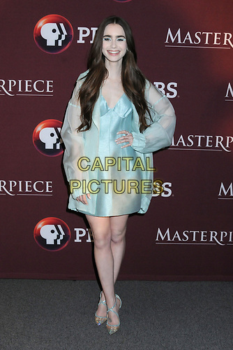 08 April 2019 - New York, New York - Lily Collins at Times Talk with cast of &quot;LES MISERABLES&quot; at the Times Center. <br /> CAP/ADM/LJ<br /> &copy;LJ/ADM/Capital Pictures