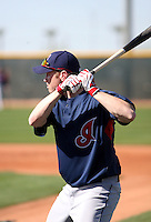 Jordan Brown -  Cleveland Indians - 2009 spring training.Photo by:  Bill Mitchell/Four Seam Images