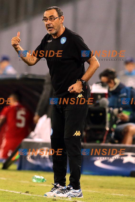 Maurizio Sarri Napoli, <br /> Napoli 28-09-2016 Stadio San Paolo <br /> Football Calcio UEFA Champions League 2016/2017 Group B. Napoli - Benfica<br /> Foto Cesare Purini / Insidefoto