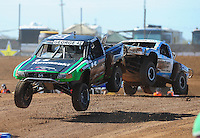 Apr 16, 2011; Surprise, AZ USA; LOORRS driver Chad George (42) leads R.J. Anderson (37) during round 3 at Speedworld Off Road Park. Mandatory Credit: Mark J. Rebilas-.