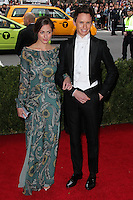 "NEW YORK CITY, NY, USA - MAY 05: Hannah Bagshawe, Eddie Redmayne at the ""Charles James: Beyond Fashion"" Costume Institute Gala held at the Metropolitan Museum of Art on May 5, 2014 in New York City, New York, United States. (Photo by Xavier Collin/Celebrity Monitor)"