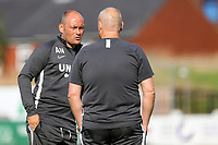 Preston North End manager Alex Neil has a word with a member of this coaching staff<br /> <br /> Photographer Alex Dodd/CameraSport<br /> <br /> Football Pre-Season Friendly - Chorley v Preston North End - Tuesday July 16th 2019  - Victory Park - Chorley<br /> <br /> World Copyright © 2019 CameraSport. All rights reserved. 43 Linden Ave. Countesthorpe. Leicester. England. LE8 5PG - Tel: +44 (0) 116 277 4147 - admin@camerasport.com - www.camerasport.com