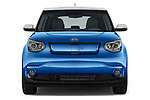 Car photography straight front view of a 2017 KIA Soul EV Base 5 Door Hatchback