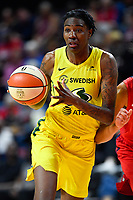 Washington, DC - June 14, 2019: Seattle Storm forward Natasha Howard (6)in action during game between Seattle Storm and Washington Mystics at the St. Elizabeths East Entertainment and Sports Arena in Washington, DC. The Storm hold on to defeat the Mystics 74-71. (Photo by Phil Peters/Media Images International)