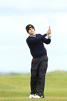 Sigot Lopez (ESP) on the 12th tee during Round 3 of The Irish Amateur Open Championship in The Royal Dublin Golf Club on Saturday 10th May 2014.<br /> Picture:  Thos Caffrey / www.golffile.ie