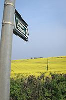 Public footpath across a OSR field- Rutland