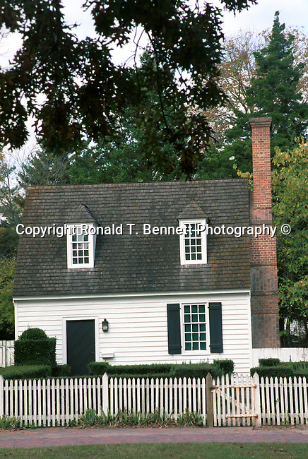 Little white house with picket fence Williamsburg Virginia, Fine Art Photography by Ron Bennett, Fine Art, Fine Art photography, Art Photography, Copyright RonBennettPhotography.com ©