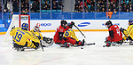 Pyeongchang, Korea, 10/3/2018-Bryan Sholomicki of Canada plays Sweden in hockey during the 2018 Paralympic Games in PyeongChang. Photo Scott Grant/Canadian Paralympic Committee.