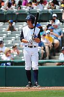 Trenton Thunder infielder Casey Stevenson (31) during game against the Harrisburg Senators at ARM & HAMMER Park on July 31, 2013 in Trenton, NJ.  Harrisburg defeated Trenton 5-3.  (Tomasso DeRosa/Four Seam Images)