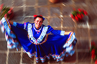 Colorful lady dancer in Oaxaca, Mexico...