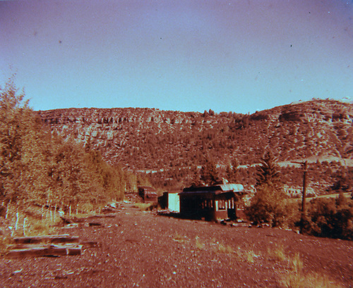 View of RGS depot area at Vance Junction with coach body depot.  Section house is gone.  After abandonment.<br /> RGS  Vance Junction, CO