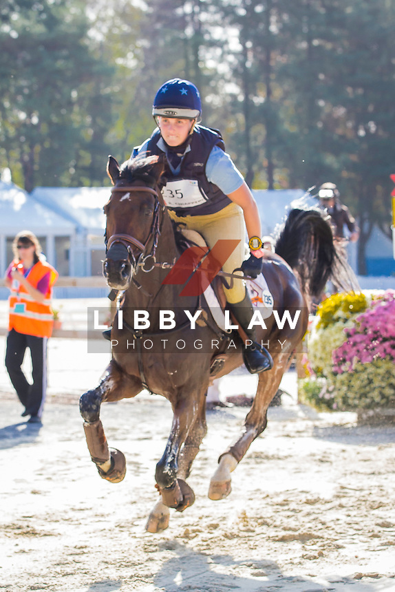 ITA-Rebecca Chiappero (QUILANDO Z) INTERIM-18TH: CIC2* CROSS COUNTRY: 2014 FRA-Les Etoiles de Pau (Saturday 25 October) CREDIT: Libby Law COPYRIGHT: LIBBY LAW PHOTOGRAPHY - NZL