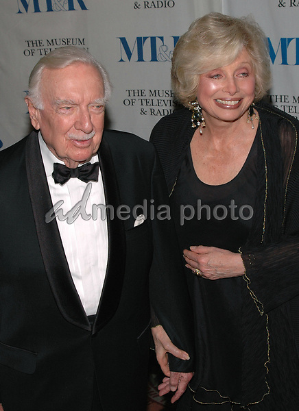 26 May 2005 - New York, New York - Walter Cronkite and his wife Joanna arrive at The Museum of Television and Radio's Annual Gala where Merv Griffin is being honored for his award winning career in radio and television.<br />