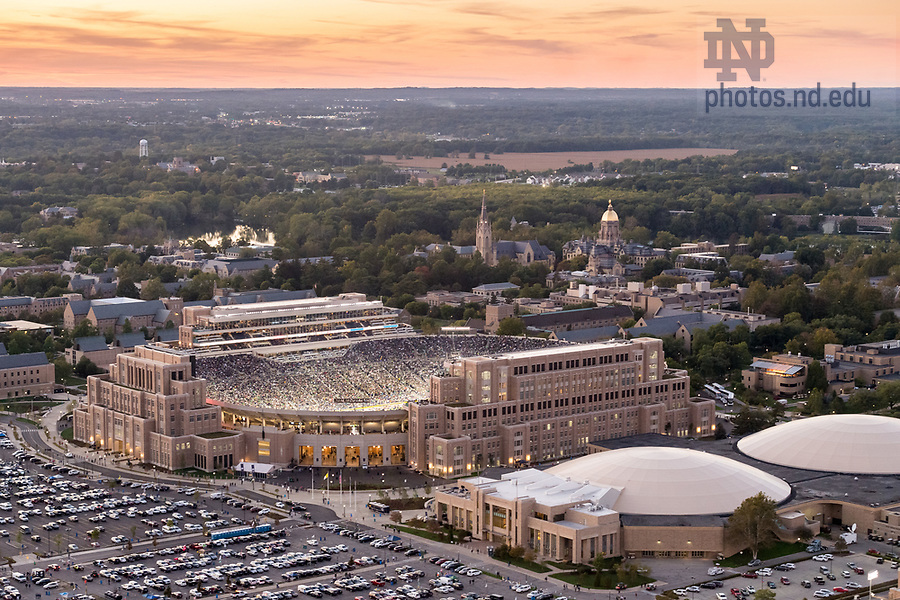 September 30, 2017; Notre Dame Stadium on a game day. (Photo by Barbara Johnston/University of Notre Dame)