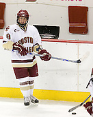 Nathan Gerbe (BC - 9) - The Boston College Eagles defeated the visiting Northeastern University Huskies 7-1 on Friday, March 9, 2007, to win their Hockey East quarterfinals matchup in two games at Conte Forum in Chestnut Hill, Massachusetts.