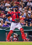 28 April 2017: Washington Nationals catcher Matt Wieters in action against the New York Mets at Nationals Park in Washington, DC. The Mets defeated the Nationals 7-5 to take the first game of their 3-game weekend series. Mandatory Credit: Ed Wolfstein Photo *** RAW (NEF) Image File Available ***