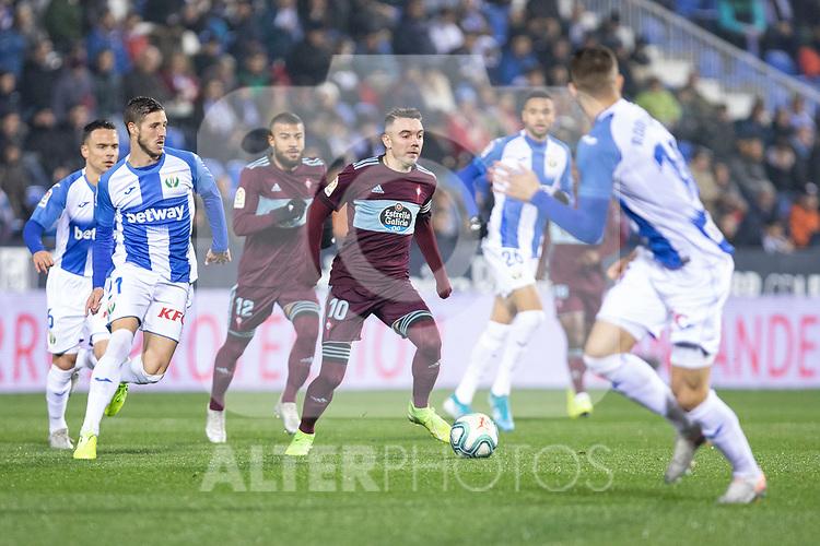 CD Leganes's  Oscar Rodriguez Arnaiz and RC Celta de Vigo's Iago Aspas during La Liga match 2019/2020 round 16<br /> December 8, 2019. <br /> (ALTERPHOTOS/David Jar)