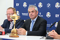 Ryder Cup Captain Paul McGinley (IRL) during press conference at the 2013 ISPS Handa Wales Open from the Celtic Manor Resort, Newport, Wales. Picture:  David Lloyd / www.golffile.ie