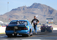 Apr 11, 2015; Las Vegas, NV, USA; NHRA super gas driver Clint Fishel  during qualifying for the Summitracing.com Nationals at The Strip at Las Vegas Motor Speedway. Mandatory Credit: Mark J. Rebilas-