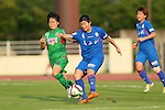 (L to R) <br /> Yuka Momiki (Beleza), <br /> Yui Utsumi (Elfen), <br /> JULY 12, 2015 - Football / Soccer : <br /> 2015 Plenus Nadeshiko League Division 1 <br /> between NTV Beleza 1-0 AS Elfen Saitama <br /> at Hitachinaka Stadium, Ibaraki, Japan. <br /> (Photo by YUTAKA/AFLO SPORT)