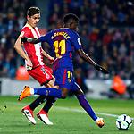 League Santander 2017/2018. Game: 25.<br /> FC Barcelona vs Girona FC: 6-1.<br /> Bernardo vs Dembele.