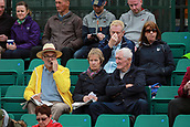 June 12th 2017,  Nottingham, England; WTA Aegon Nottingham Open Tennis Tournament day 1; Fans wrapped againt the cool temperatures during the Fett versus Barthel match