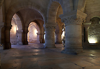 Crypt of Hilduin, 9th century, Abbey church of Saint Denis, Seine Saint Denis, France. Picture by Manuel Cohen