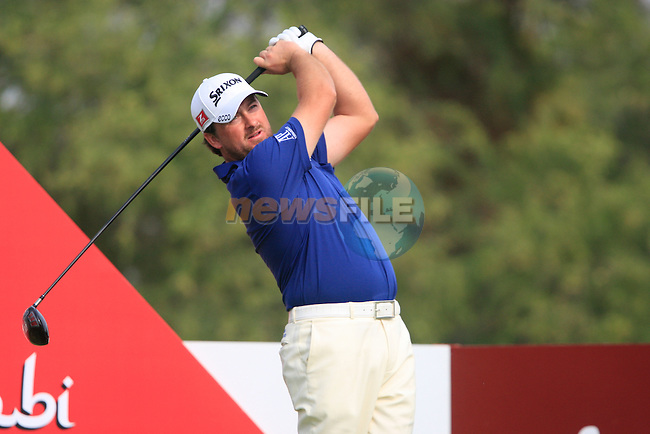 Graeme McDowell tees off on the 11th tee during Day 3 Saturday of the Abu Dhabi HSBC Golf Championship, 22nd January 2011..(Picture Eoin Clarke/www.golffile.ie)