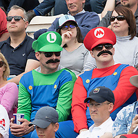 Super Mario Brothers are cricket fans during England vs West Indies, ICC World Cup Cricket at the Hampshire Bowl on 14th June 2019