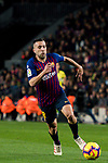 Jordi Alba Ramos of FC Barcelona in action during the La Liga 2018-19 match between FC Barcelona and RC Celta de Vigo at Camp Nou on 22 December 2018 in Barcelona, Spain. Photo by Vicens Gimenez / Power Sport Images