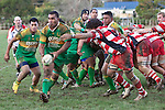 Drury No 8 Sitaleki Huhahau makes a run down the blindside from a scrum. Counties Manukau Club rugby Premier game between Drury and Karaka played at Drury on Saturday May 1st, 2010. Karaka won the game 32 -12 after leading 25 - 7.