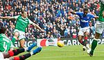 11.08.2019 Rangers v Hibs: Jermain Defoe scores his second goal