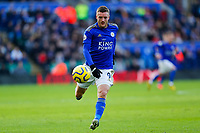 1st February 2020; King Power Stadium, Leicester, Midlands, England; English Premier League Football, Leicester City versus Chelsea; Jamie Vardy of Leicester City on the ball