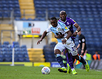 Blackburn Rovers' Amari'i Bell battles with Stoke City's Benik Afobe<br /> <br /> Photographer Alex Dodd/CameraSport<br /> <br /> The EFL Sky Bet Championship - Blackburn Rovers v Stoke City - Saturday 6th April 2019 - Ewood Park - Blackburn<br /> <br /> World Copyright © 2019 CameraSport. All rights reserved. 43 Linden Ave. Countesthorpe. Leicester. England. LE8 5PG - Tel: +44 (0) 116 277 4147 - admin@camerasport.com - www.camerasport.com