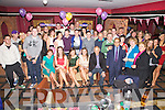 Double Trouble - twins Clodagh & Aoife Musgrave seated front centre 3rd & 4th from left, celebrated their 21st birthday's with family and friends at Pulse night Club Cahersiveen on Saturday night last.