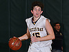 Anthony Reilly #15 of Oyster Bay dribbles downcourt during the Nassau County varsity boys basketball Class B final against Carle Place at SUNY Old Westbury on Thursday, Feb. 23, 2017. Oyster Bay won by a score of 51-31.