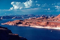 Lake Powell, rocks and mountains, near Page, Arizona