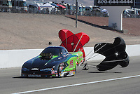 Mar. 31, 2012; Las Vegas, NV, USA: NHRA top alcohol funny car driver Doug Gordon during qualifying for the Summitracing.com Nationals at The Strip in Las Vegas. Mandatory Credit: Mark J. Rebilas-